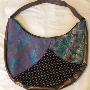 Handbags - Multi fabric hobo bag